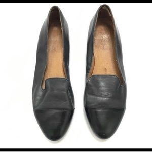 EUC Madewell Teddy Cap Toe Leather Flats